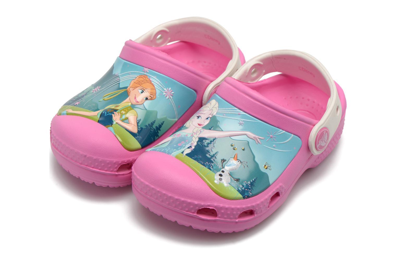 Sandales et nu-pieds Crocs CC FrozenFever Clog K Rose vue 3/4