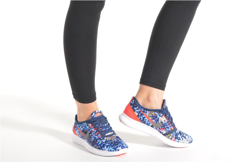 Chaussures de sport Nike Wmns Nike Free Rn Rf E Bleu vue bas / vue portée sac