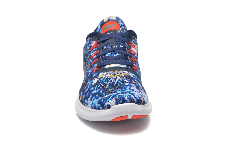 Chaussures de sport Nike Wmns Nike Free Rn Rf E Bleu vue portées chaussures