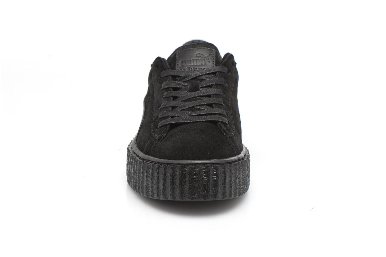 Baskets Puma WNS Suede Creepers Satin Noir vue portées chaussures