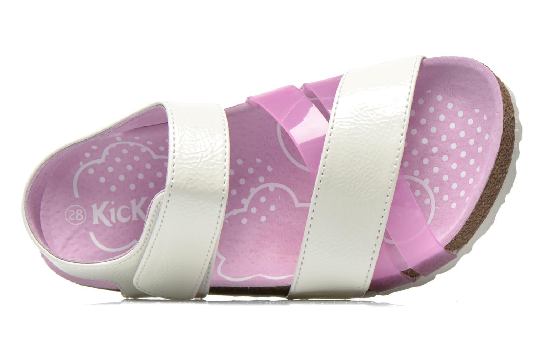 Sandales et nu-pieds Kickers Magiweek Blanc vue gauche
