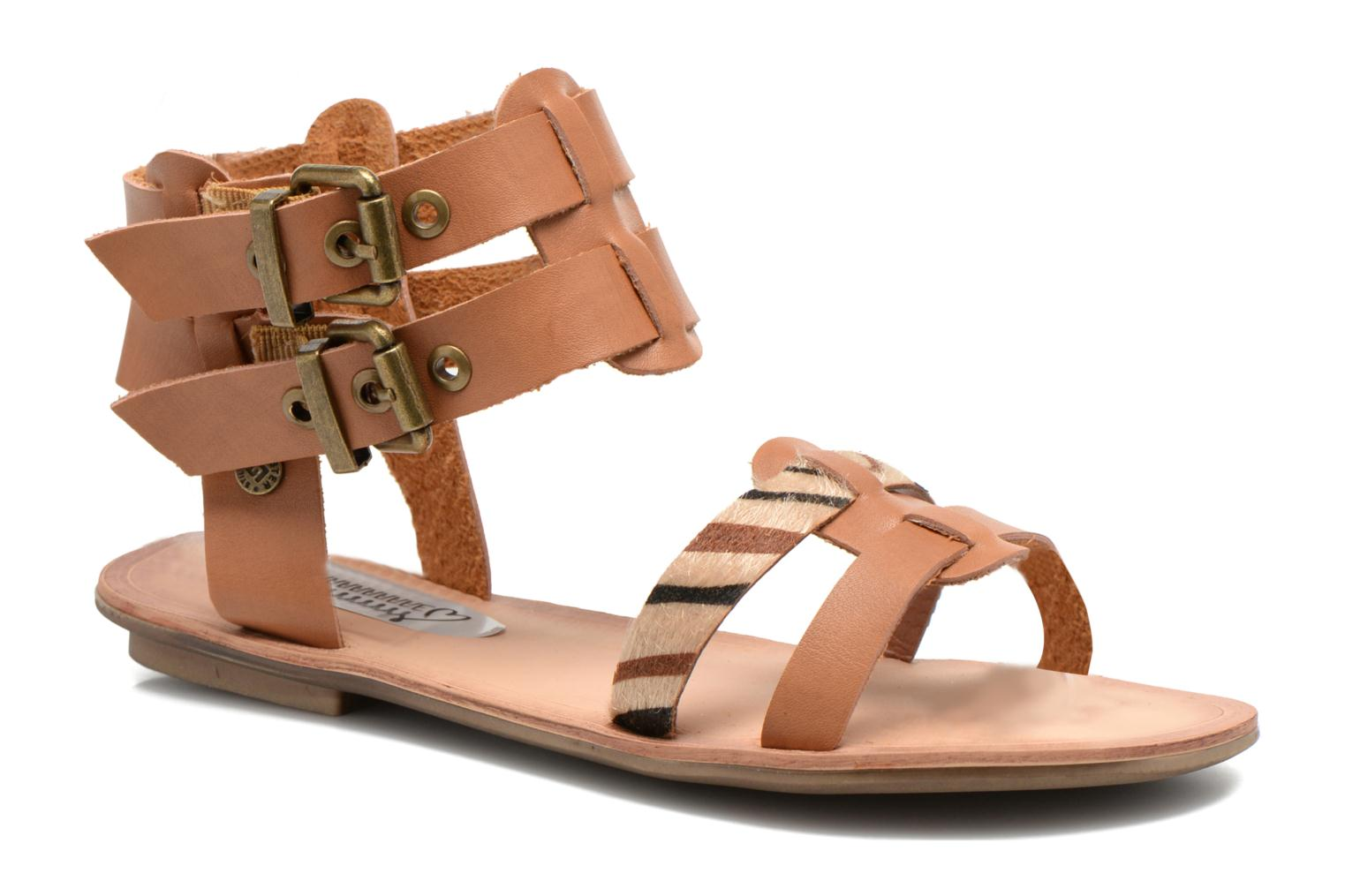 Sandals I Love Shoes Kiro Brown detailed view/ Pair view