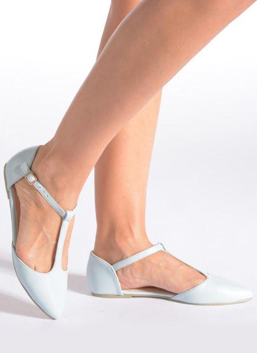 Ballerines I Love Shoes Kiba Bleu vue bas / vue portée sac