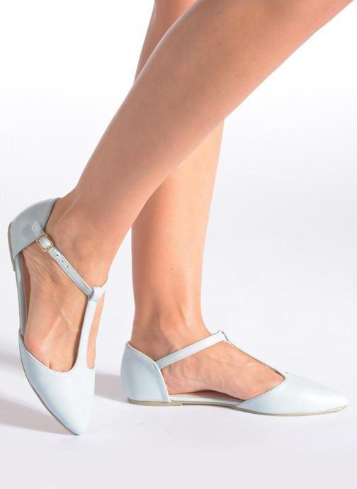 Ballerines I Love Shoes Kiba Rose vue bas / vue portée sac