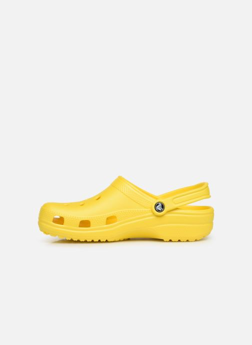 Sandalias Crocs Classic H Amarillo vista de frente
