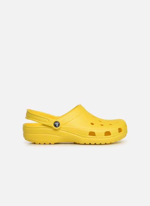 Sandalias Crocs Classic H Amarillo vistra trasera