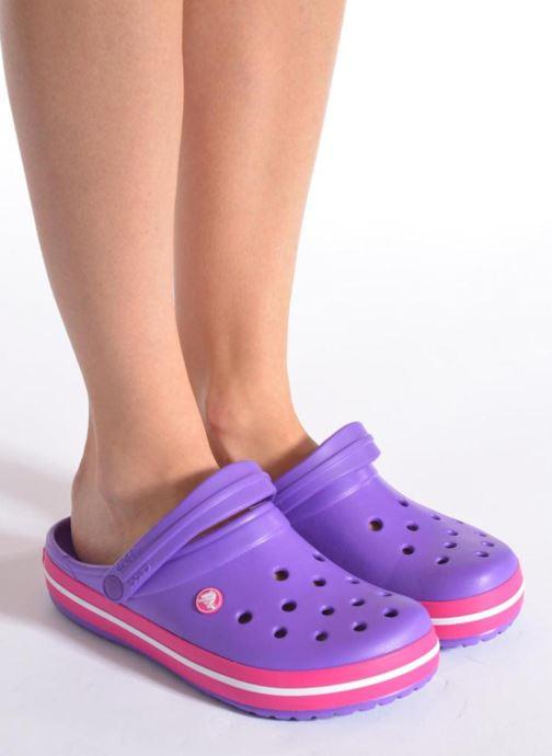Zuecos Crocs Crocband W Rosa vista de abajo