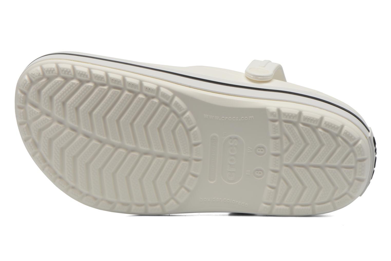 Mules et sabots Crocs Crocband W Blanc vue haut