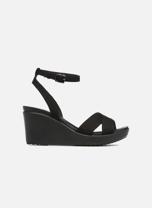 Sandalen Crocs Leigh II Ankle Strap Wedge Zwart achterkant