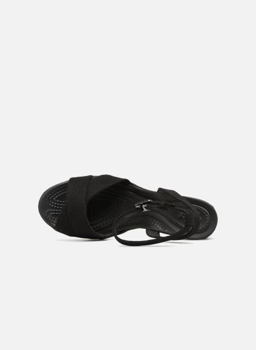 Sandales et nu-pieds Crocs Leigh II Ankle Strap Wedge Noir vue gauche
