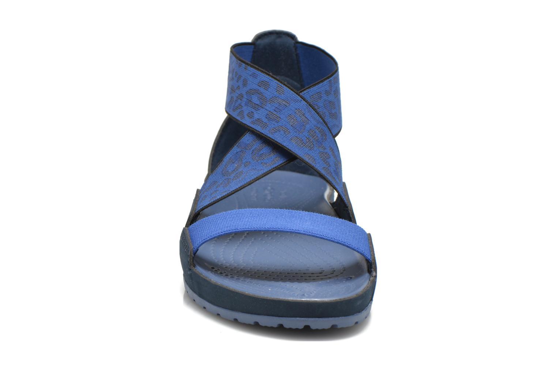 Sandales et nu-pieds Crocs Crocs Anna Ankle Strap Sandal Bleu vue portées chaussures