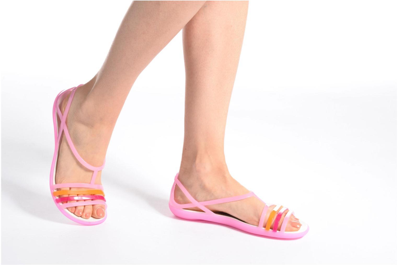 Sandales et nu-pieds Crocs Crocs Isabella Sandal W Bleu vue bas / vue portée sac