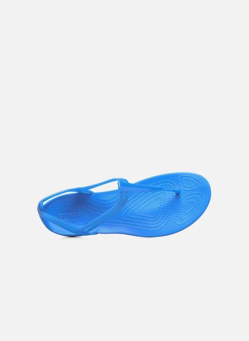 Sandales et nu-pieds Crocs Crocs Isabella T-strap Bleu vue gauche