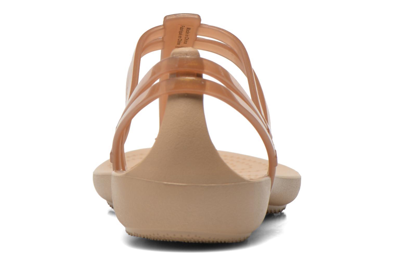Sandales et nu-pieds Crocs Crocs Isabella T-strap Marron vue droite