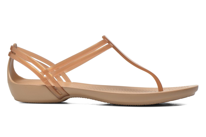 Sandales et nu-pieds Crocs Crocs Isabella T-strap Marron vue derrière