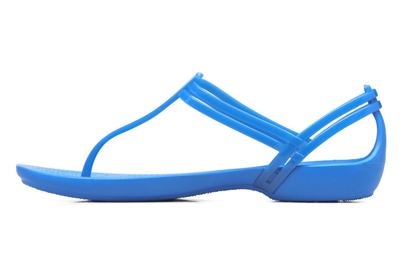 Sandales et nu-pieds Crocs Crocs Isabella T-strap Bleu vue face