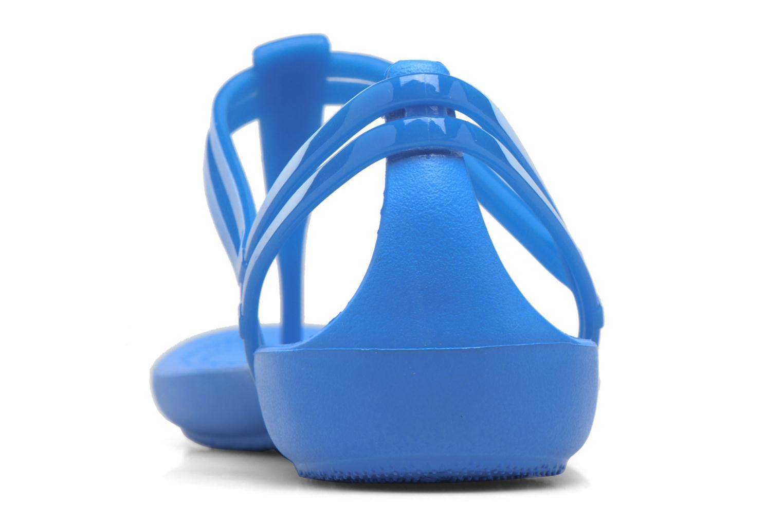 Sandales et nu-pieds Crocs Crocs Isabella T-strap Bleu vue droite