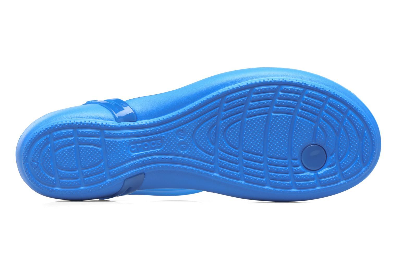 Sandales et nu-pieds Crocs Crocs Isabella T-strap Bleu vue haut