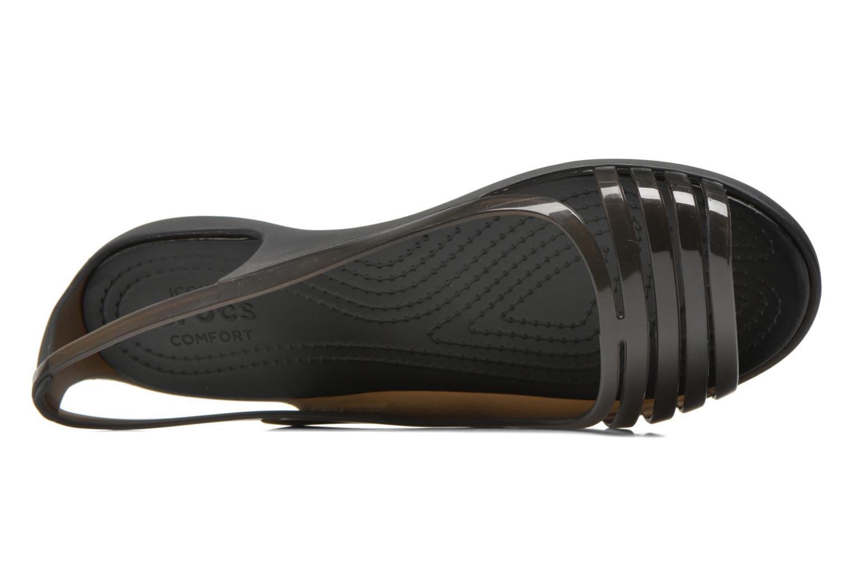 Sandales et nu-pieds Crocs Crocs Isabella Huarache Flat W Noir vue gauche