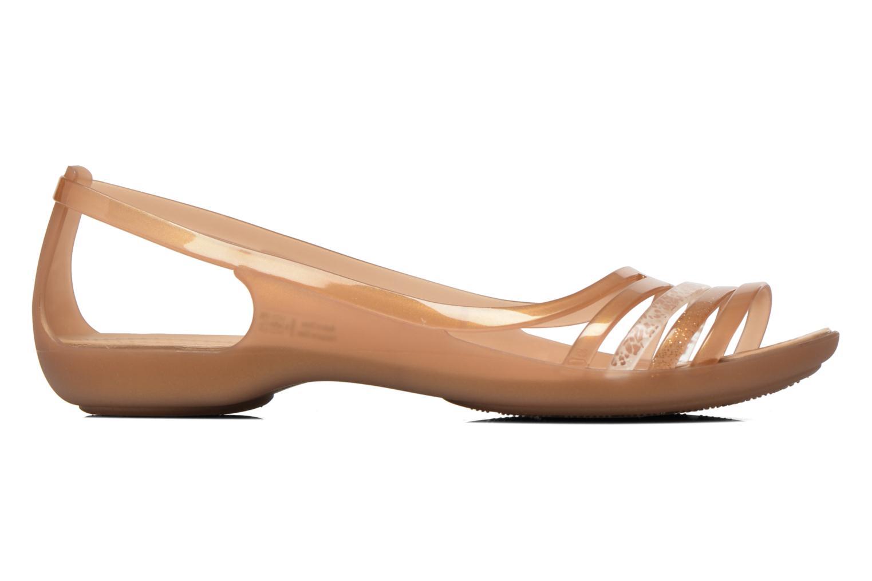 Sandales et nu-pieds Crocs Crocs Isabella Huarache Flat W Marron vue derrière