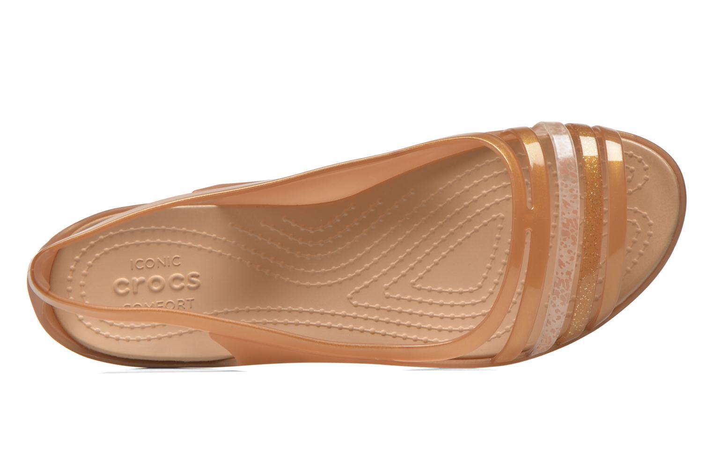 Sandales et nu-pieds Crocs Crocs Isabella Huarache Flat W Marron vue gauche