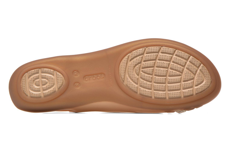 Sandales et nu-pieds Crocs Crocs Isabella Huarache Flat W Marron vue haut