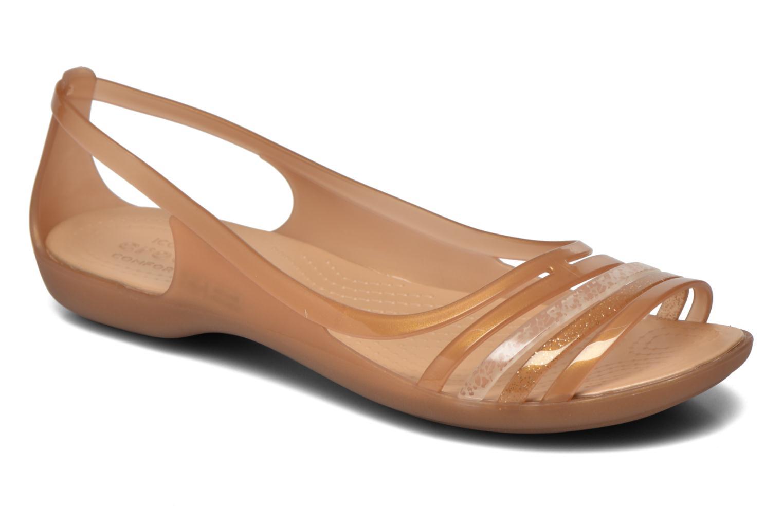 Sandales et nu-pieds Crocs Crocs Isabella Huarache Flat W Marron vue détail/paire
