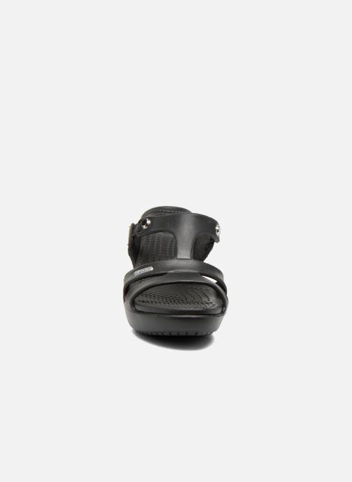 Mules et sabots Crocs Cyprus V Heel W Noir vue portées chaussures