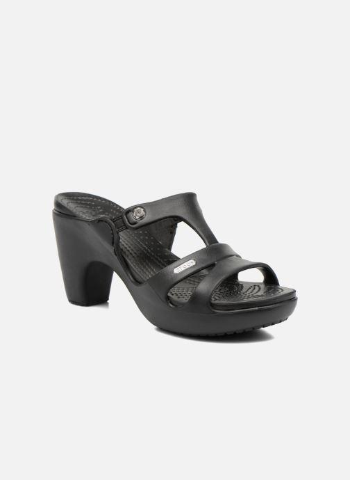 Mules et sabots Crocs Cyprus V Heel W Noir vue détail/paire
