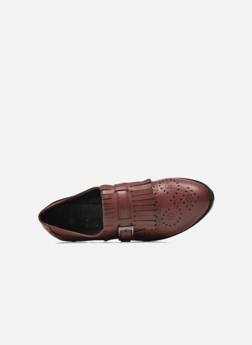 Mocasines I Love Shoes KIFASSE Vino vista lateral izquierda