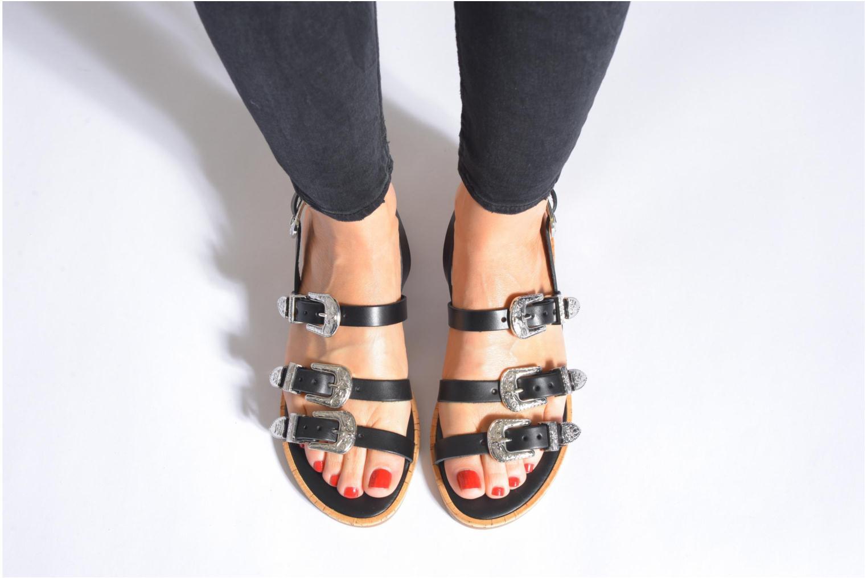 Sandales et nu-pieds Made by SARENZA Tennessee Sister #5 Noir vue bas / vue portée sac