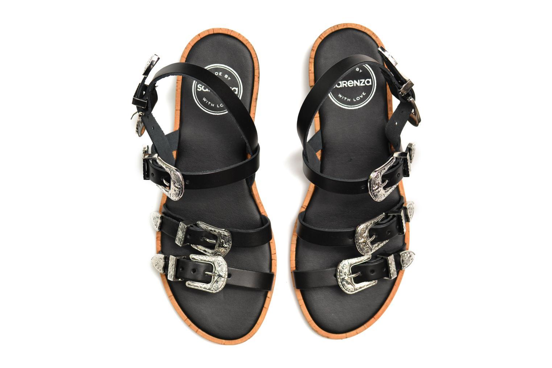 Sandales et nu-pieds Made by SARENZA Tennessee Sister #5 Noir vue haut