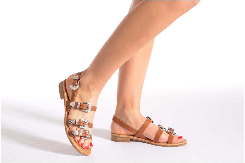 Sandales et nu-pieds Made by SARENZA Tennessee Sister #5 Marron vue bas / vue portée sac