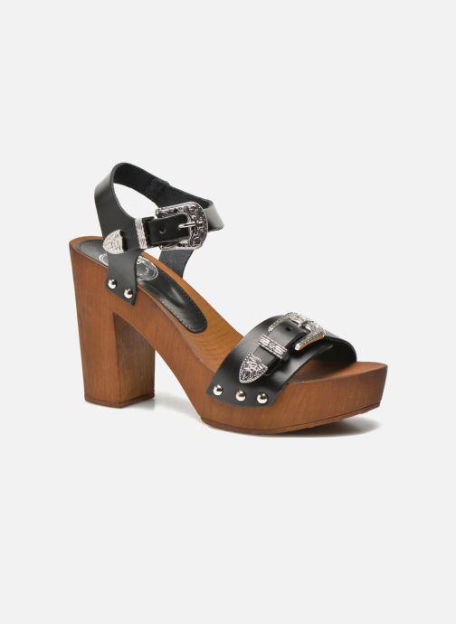 Sandalias Made by SARENZA Discow Girl #10 Negro vista de frente