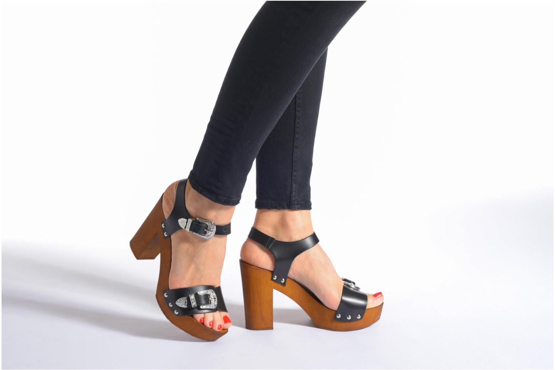 Sandalias Made by SARENZA Discow Girl #10 Negro vista de abajo