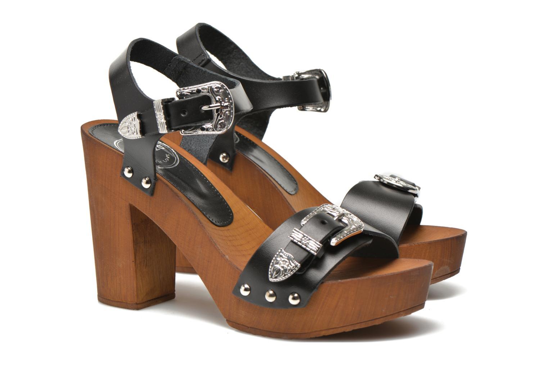 Sandalias Made by SARENZA Discow Girl #10 Negro vista lateral derecha