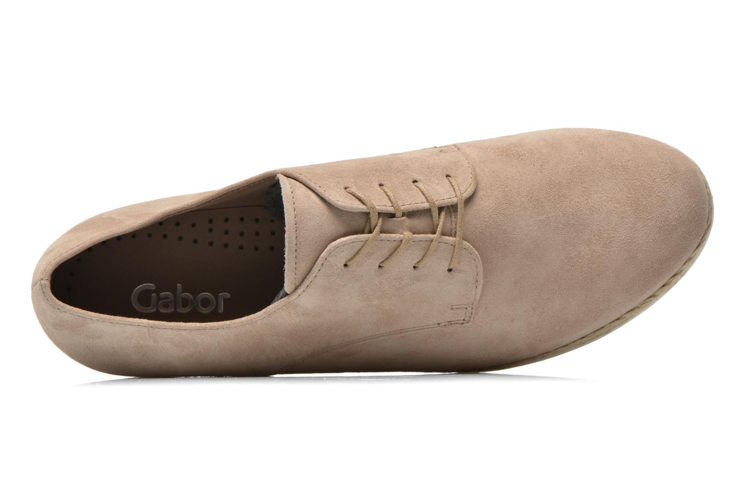 Lace-up shoes Gabor Lilo Beige view from the left