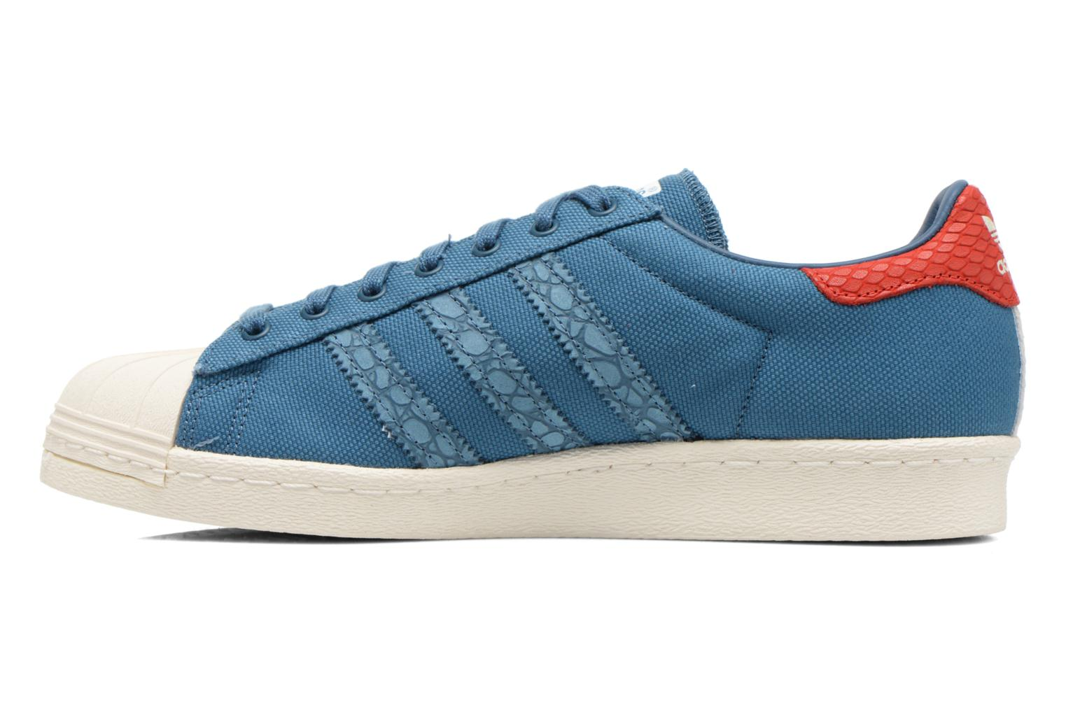 Trainers Adidas Originals Superstar 80S Animal Blue front view