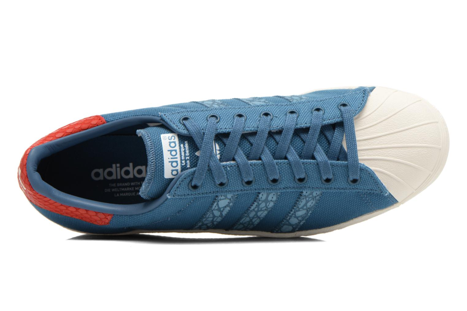 Sneakers Adidas Originals Superstar 80S Animal Blauw links