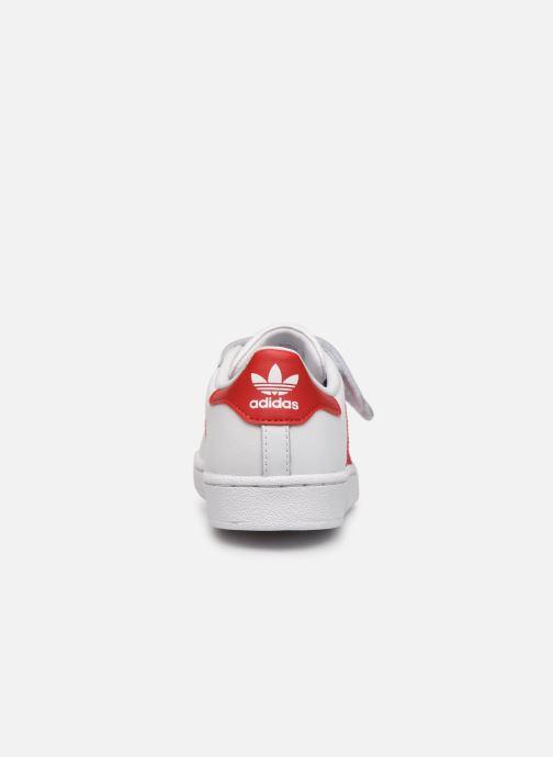 Sneakers adidas originals superstar CF C Wit rechts