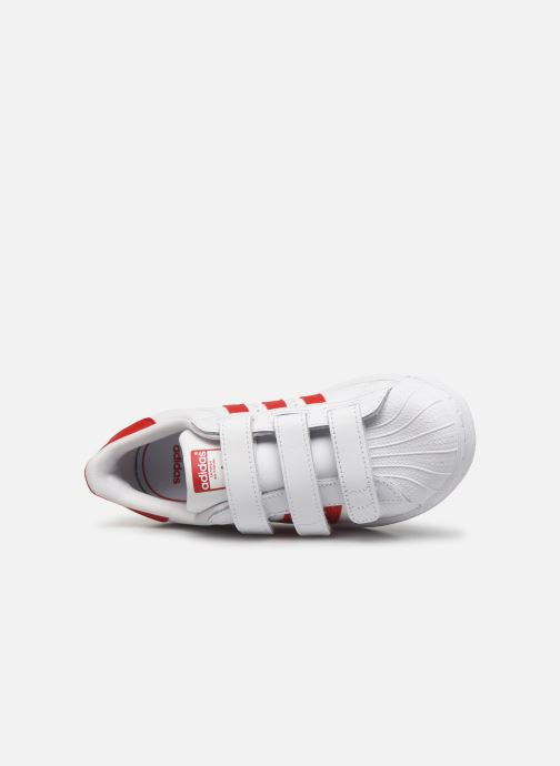 Baskets adidas originals superstar CF C Blanc vue gauche