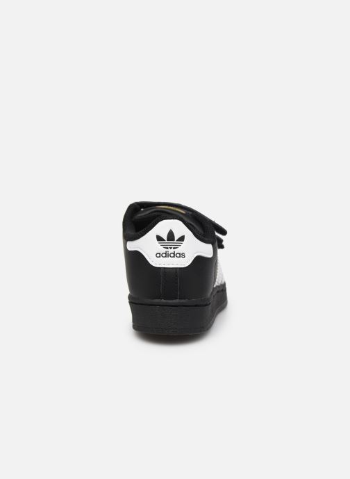 Trainers adidas originals superstar CF C Black view from the right