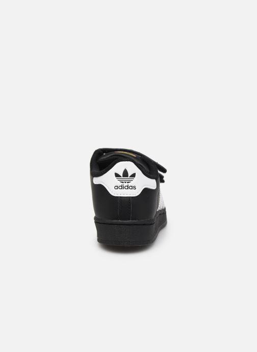 Sneakers adidas originals superstar CF C Nero immagine destra
