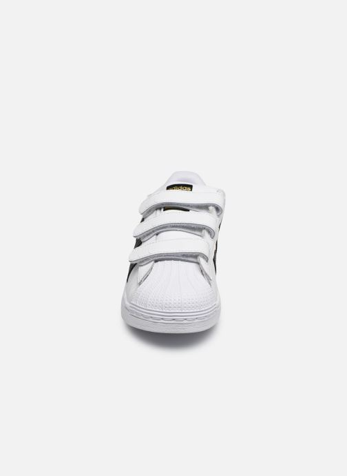 Sneakers adidas originals superstar CF C Bianco modello indossato