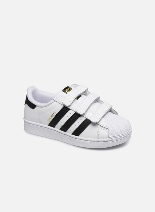 Baskets adidas originals superstar CF C Blanc vue détail/paire