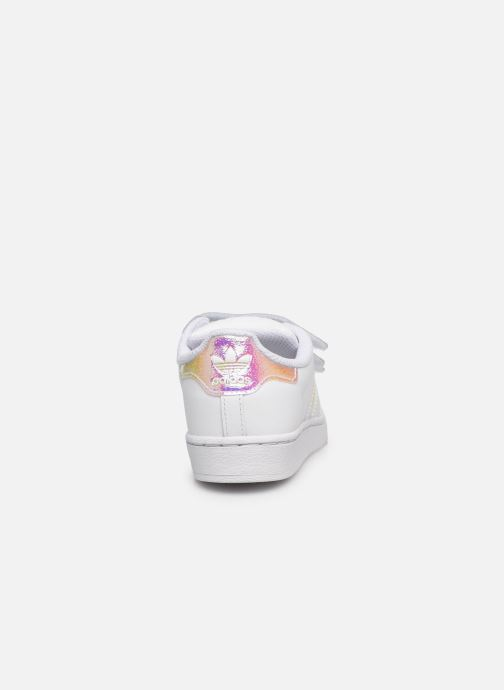 Sneakers adidas originals superstar CF C Bianco immagine destra