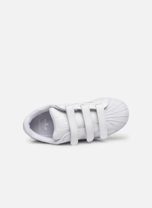 Sneaker adidas originals superstar CF C weiß ansicht von links