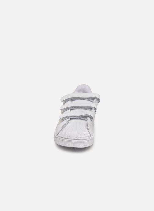 Sneakers adidas originals superstar CF C Bianco modello indossato