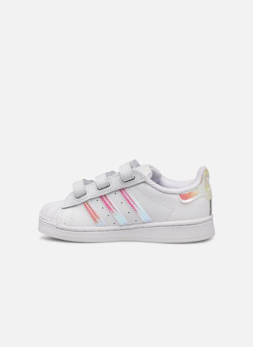 Sneakers adidas originals superstar CF C Bianco immagine frontale