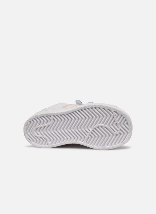 Sneakers adidas originals superstar CF C Bianco immagine dall'alto